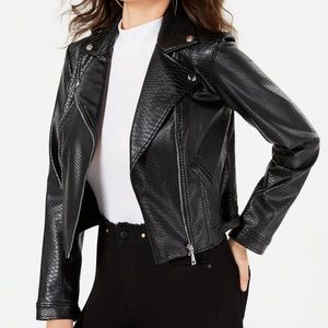 Guess Women's Faux-Leather Motto Jacket